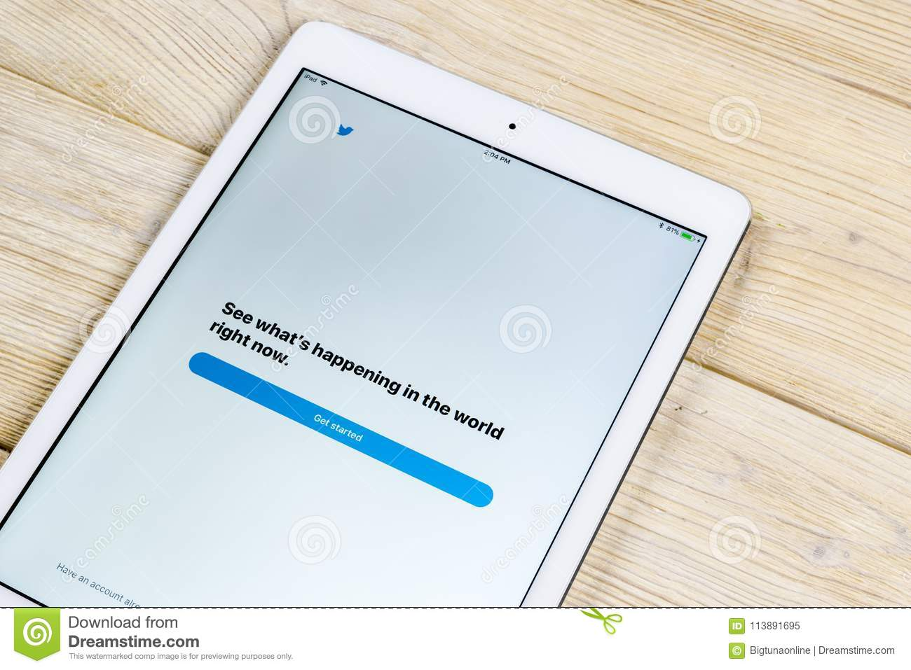 Apple IPad Pro With Twitter Application  Twitter Is Online
