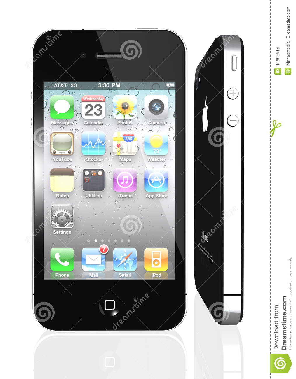 Apple iPhone 4S with icons inside