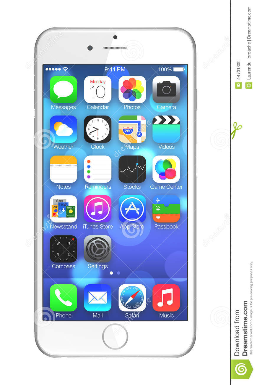 iphone 6 white front. editorial stock photo. download apple iphone 6 iphone white front