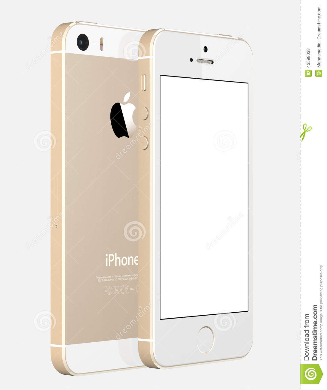 Apple IPhone 5s Displaying A Blank White Screen. Editorial