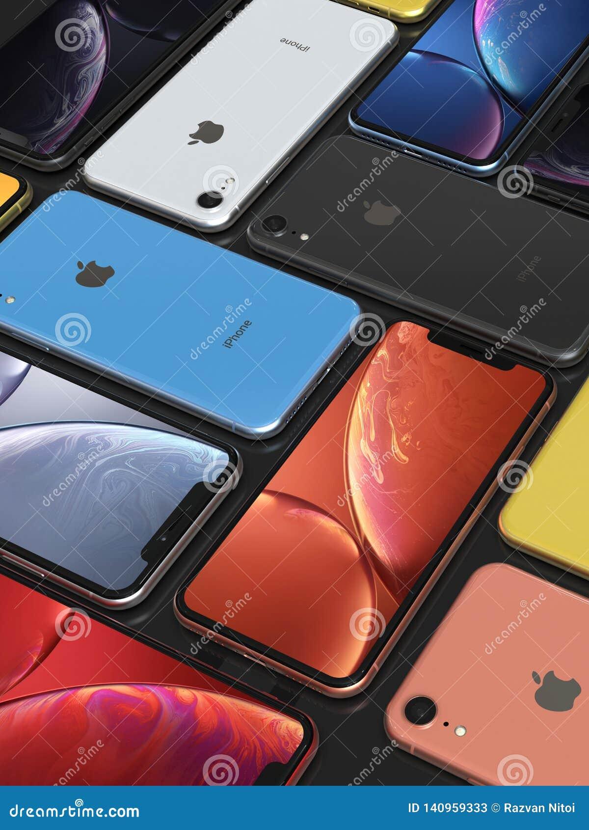 Apple Iphone Xr All Colours Mosaic Arrangement Original