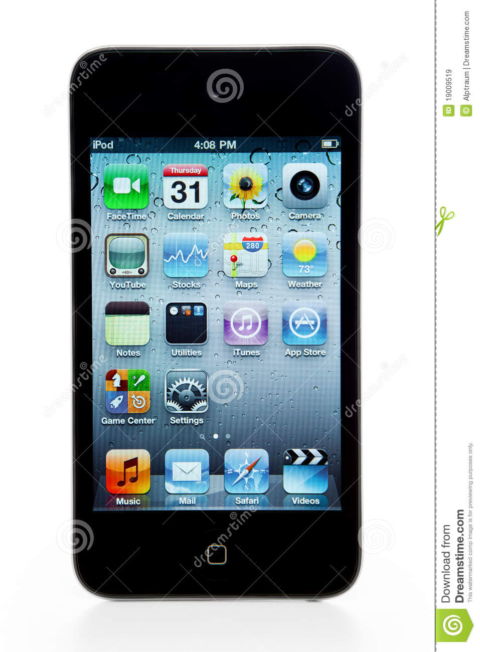 apple ipod touch 4th generation editorial stock image. Black Bedroom Furniture Sets. Home Design Ideas