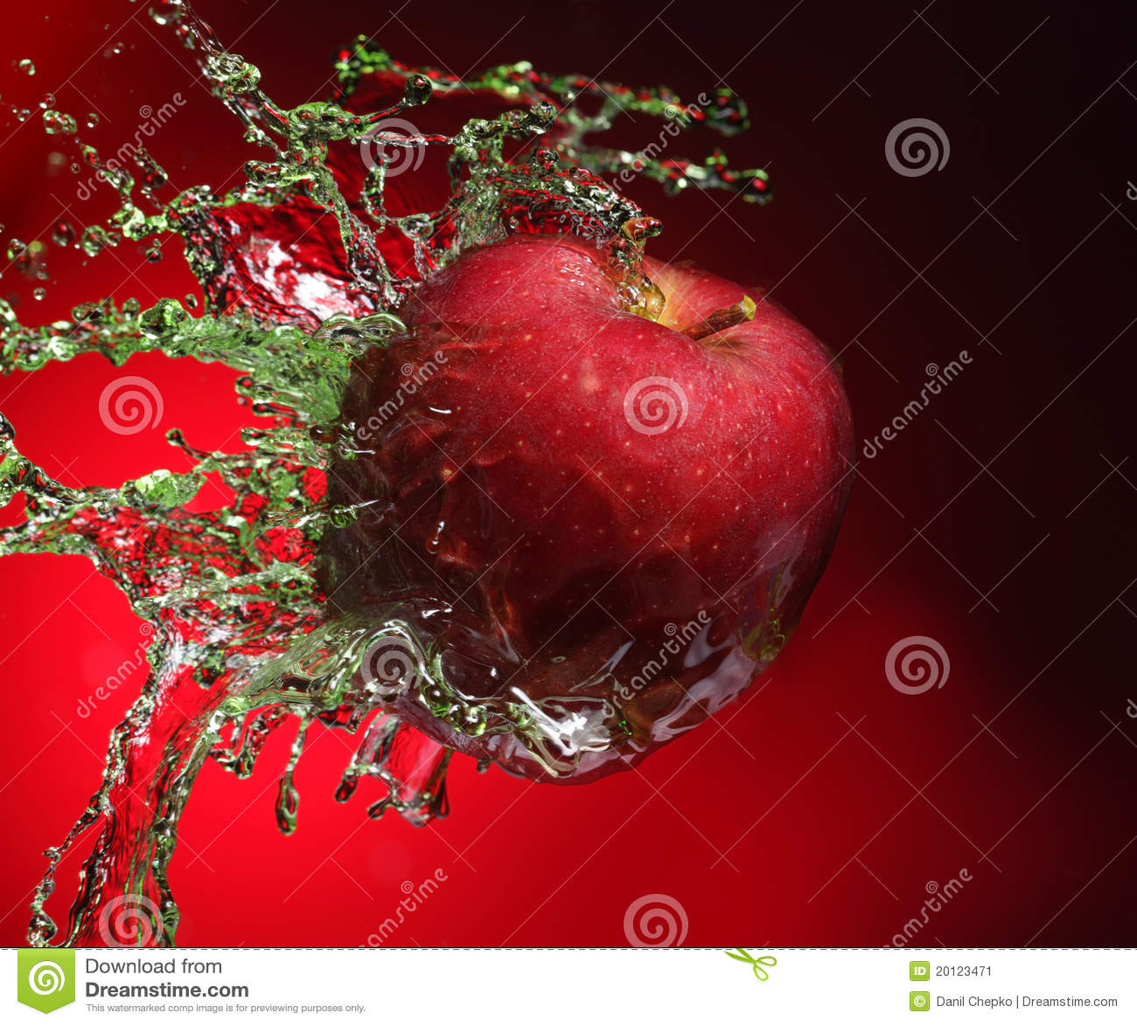 Apple in juice