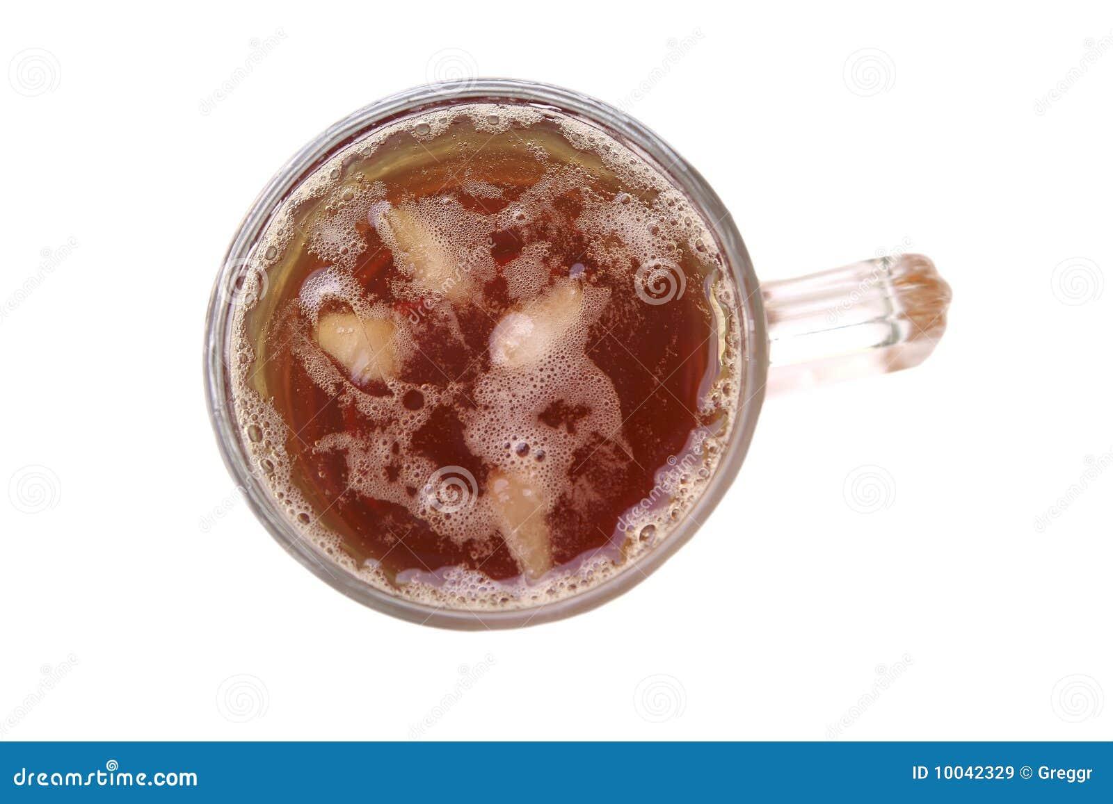 Apple juice inside big glass