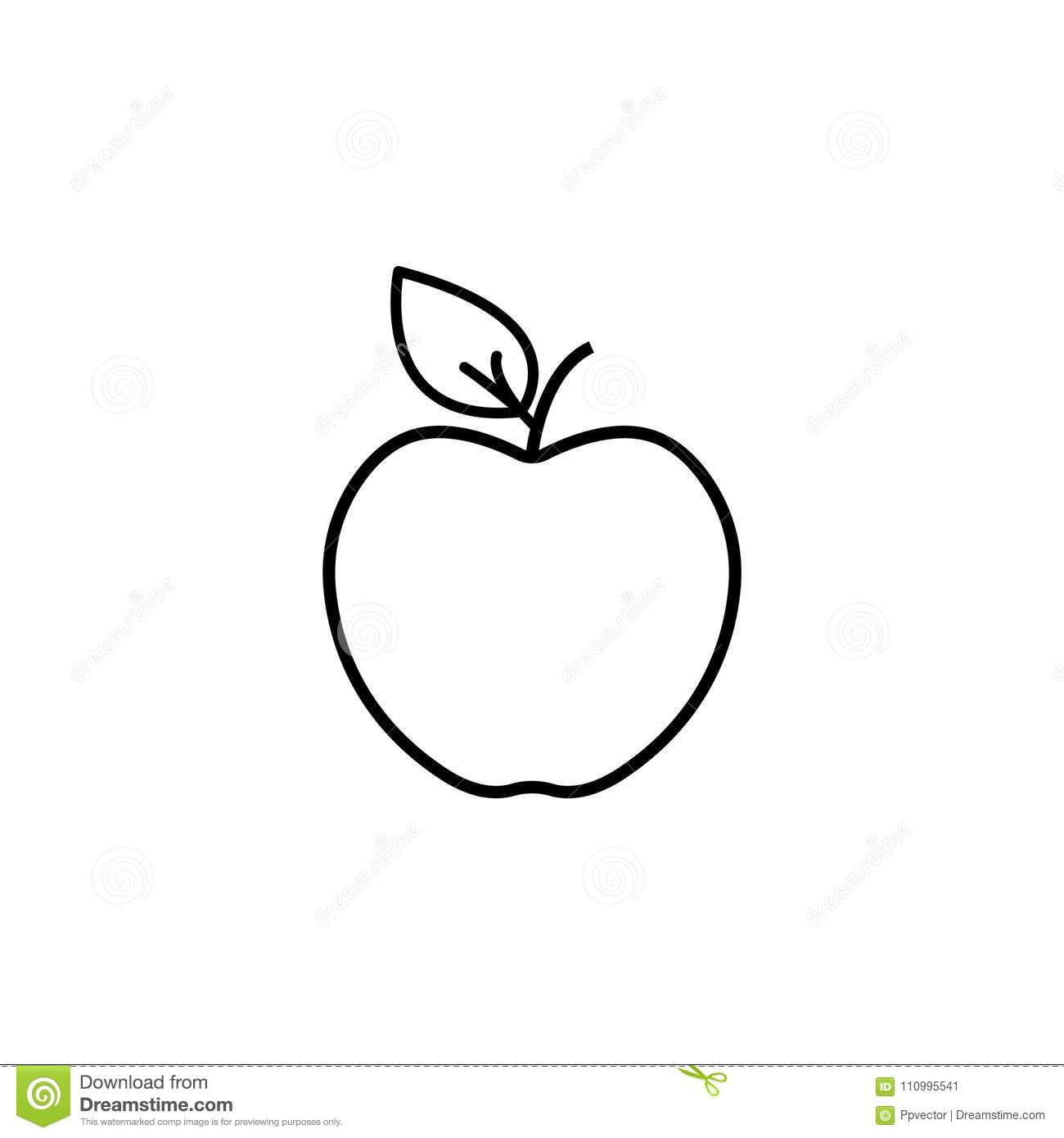 Apple line Icon. vector