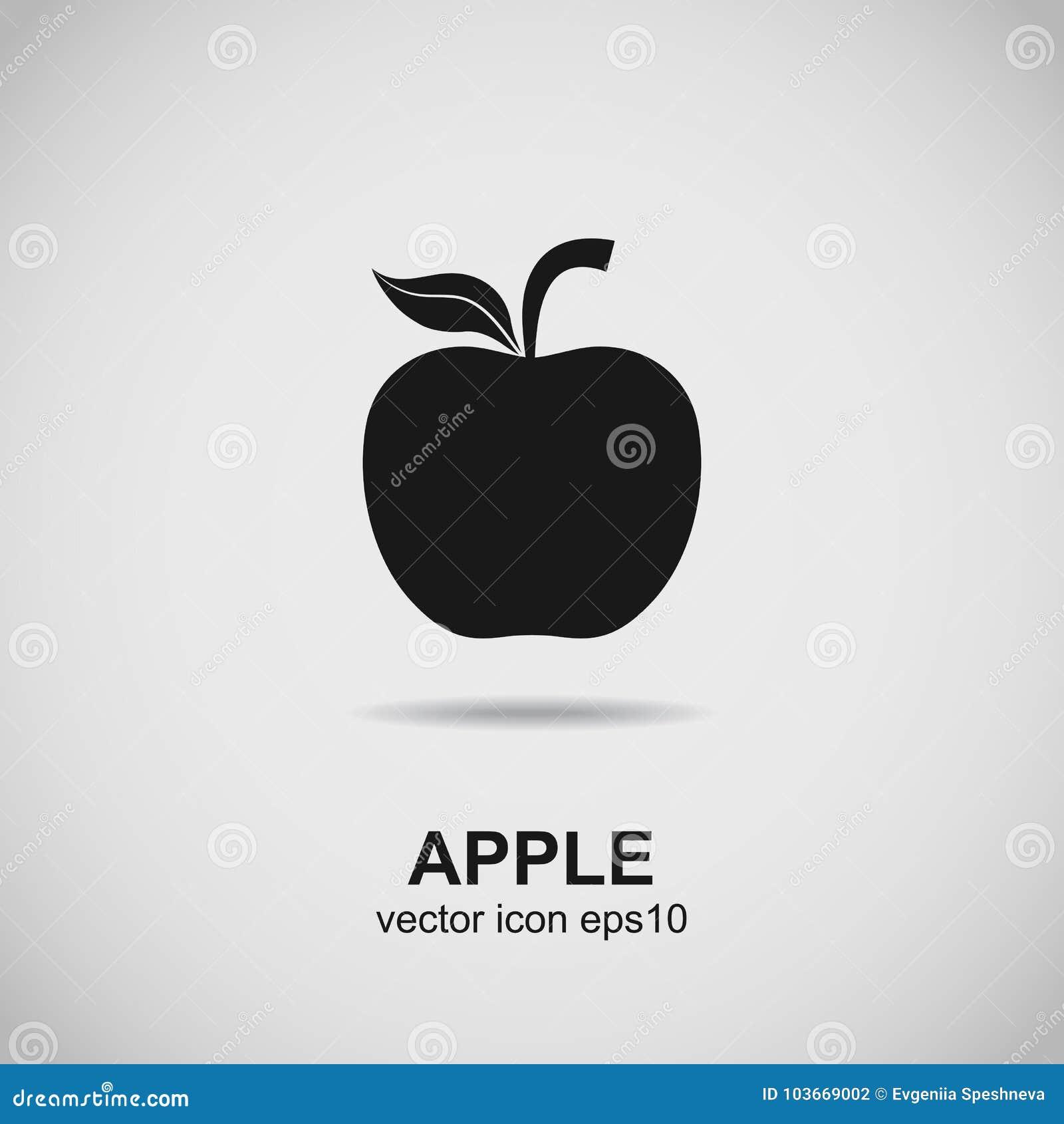 apple logo. fruit silhouette. black icon vector. stock vector