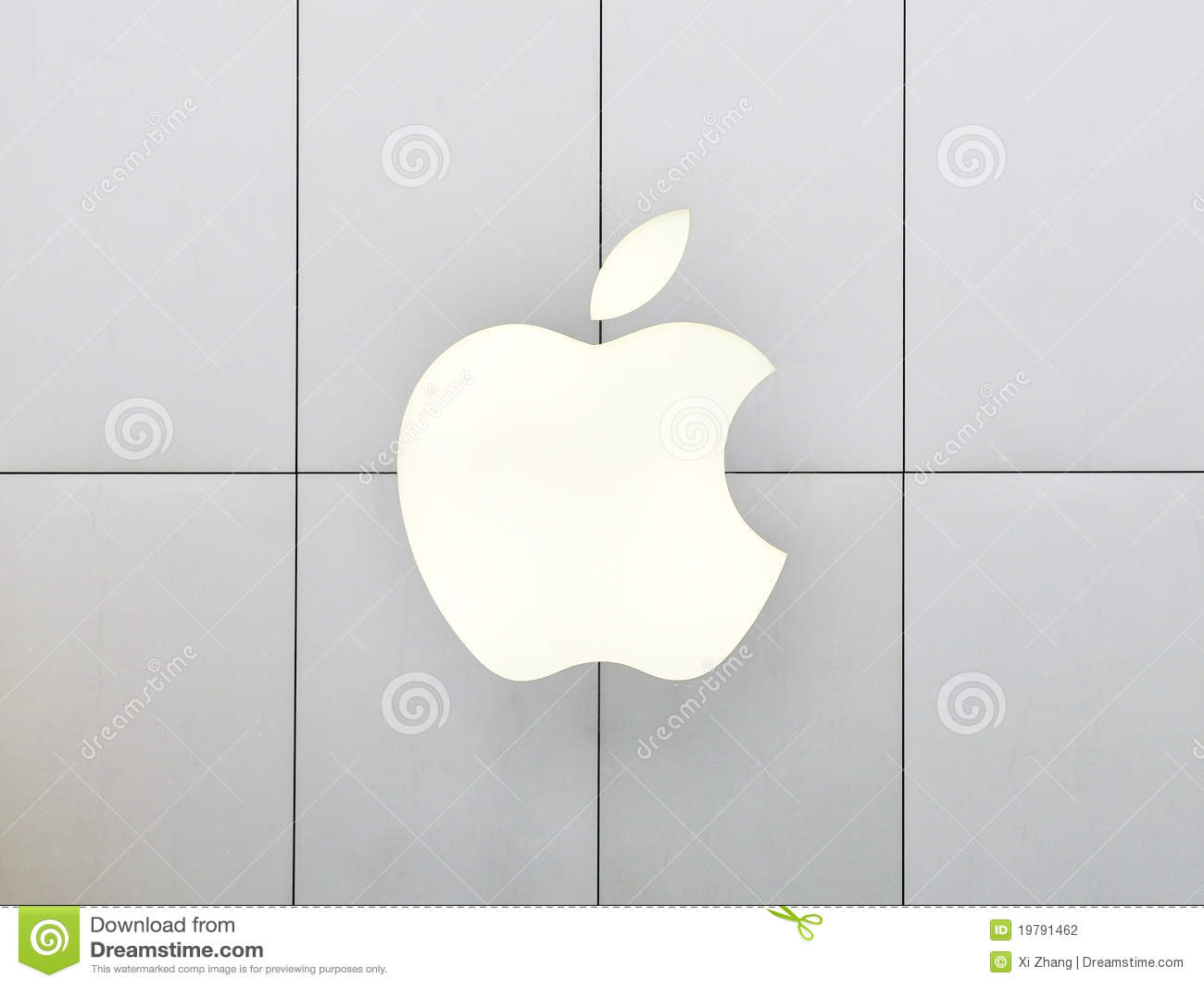 Apple Logo neon light