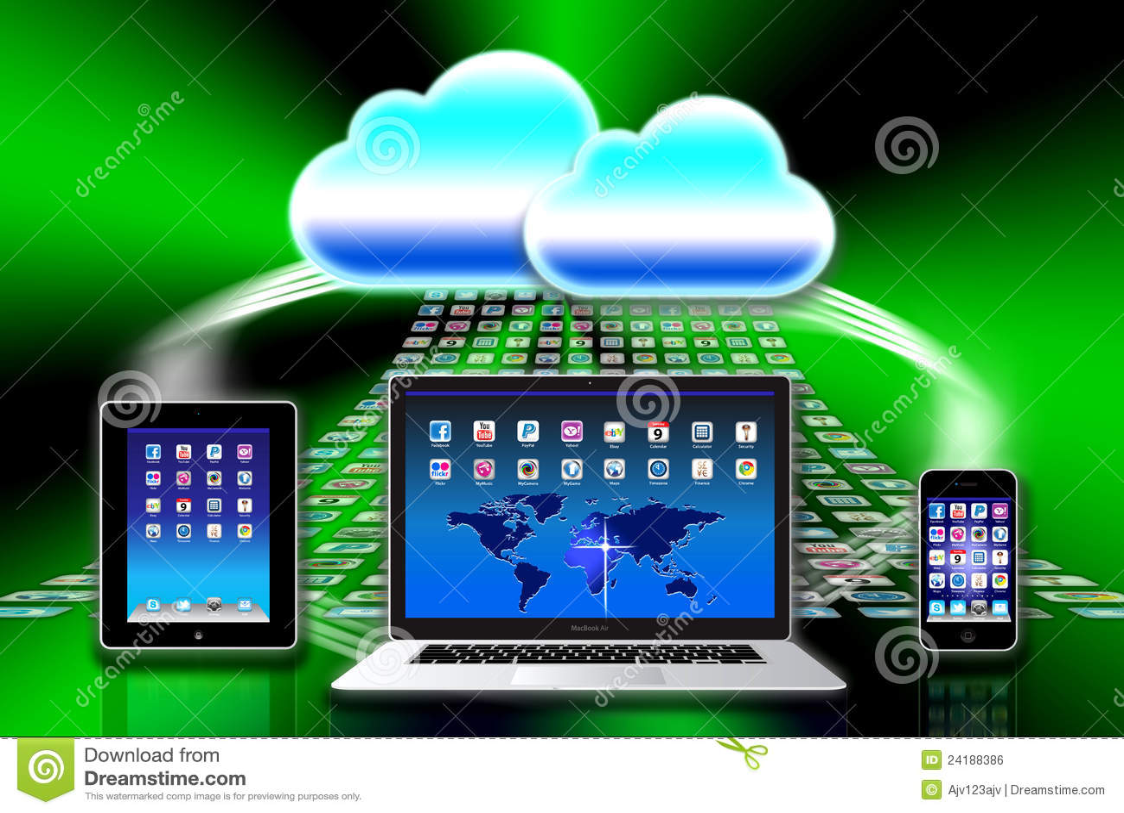Apple Mac iCloud data apps