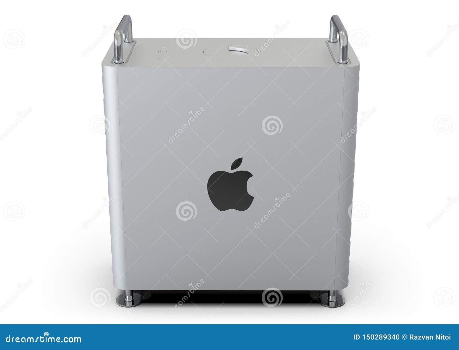 Apple Mac Pro 2019 skrivbords- dator som är sido