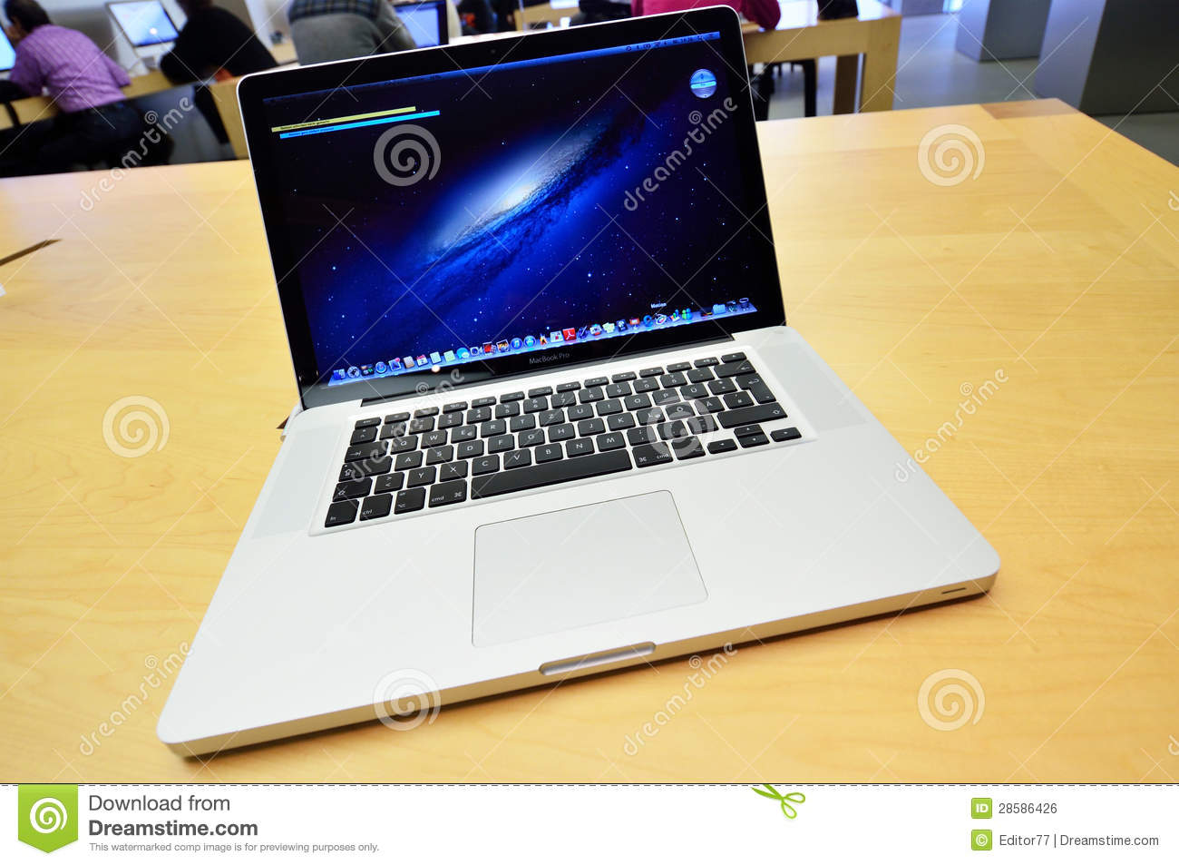 13 3 inch apple macbook pro on the table in apple store in hamburg