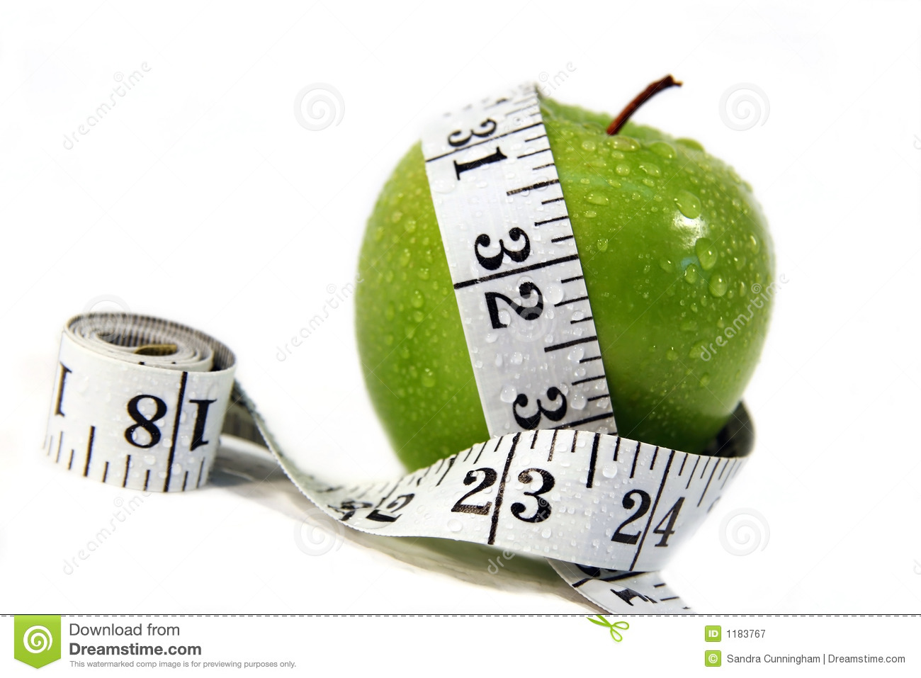 Apple And Measurement Tape Royalty Free Stock Photography - Image ...