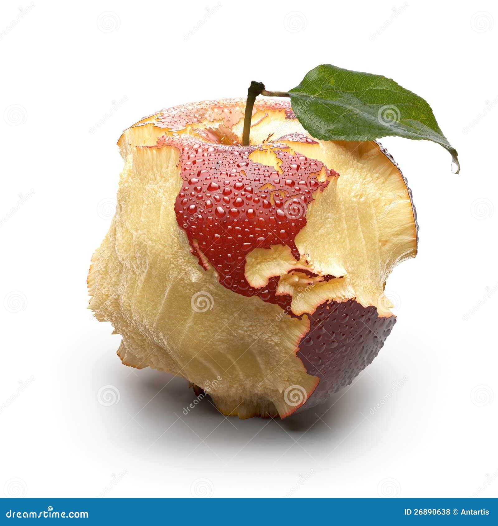 Apple med sned kontinentar.