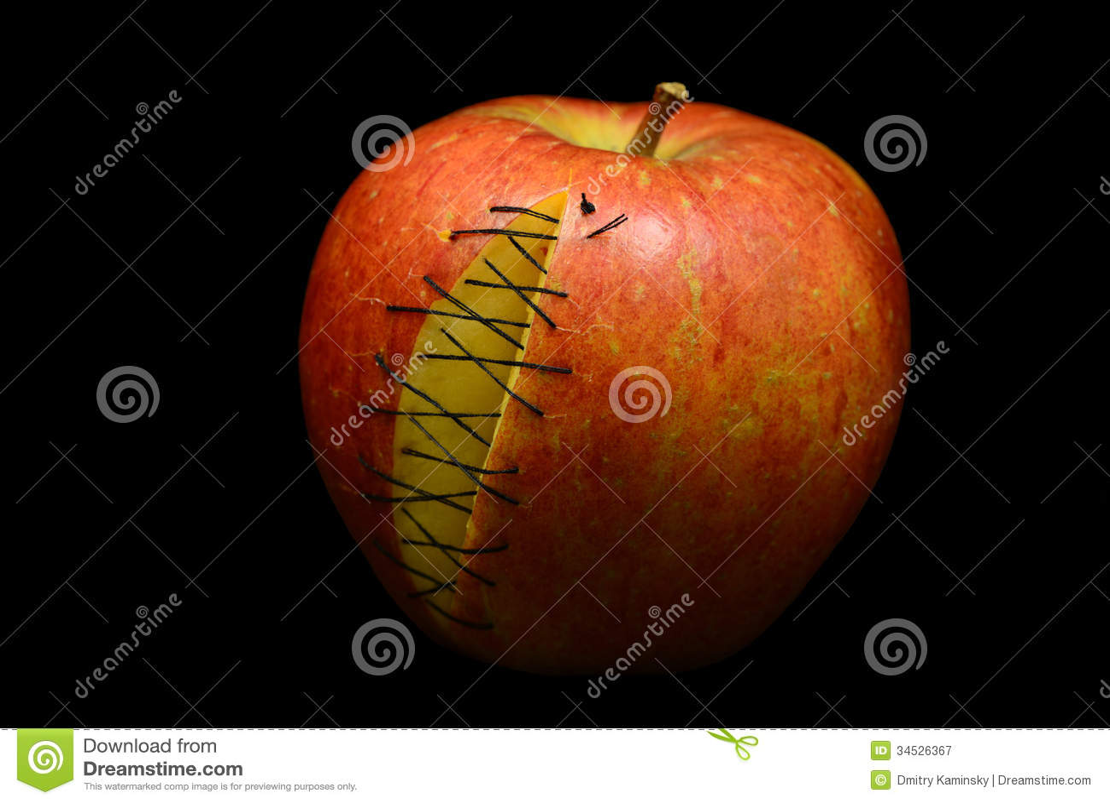 Apple met littekens