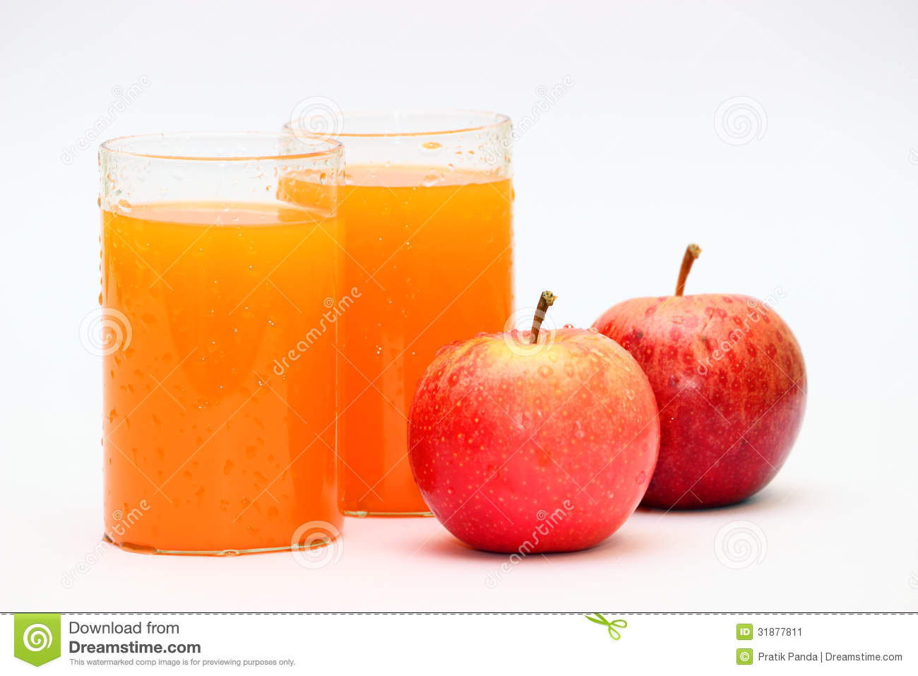 Apple And Orange Fruit Juice Stock Image - Image: 31877811