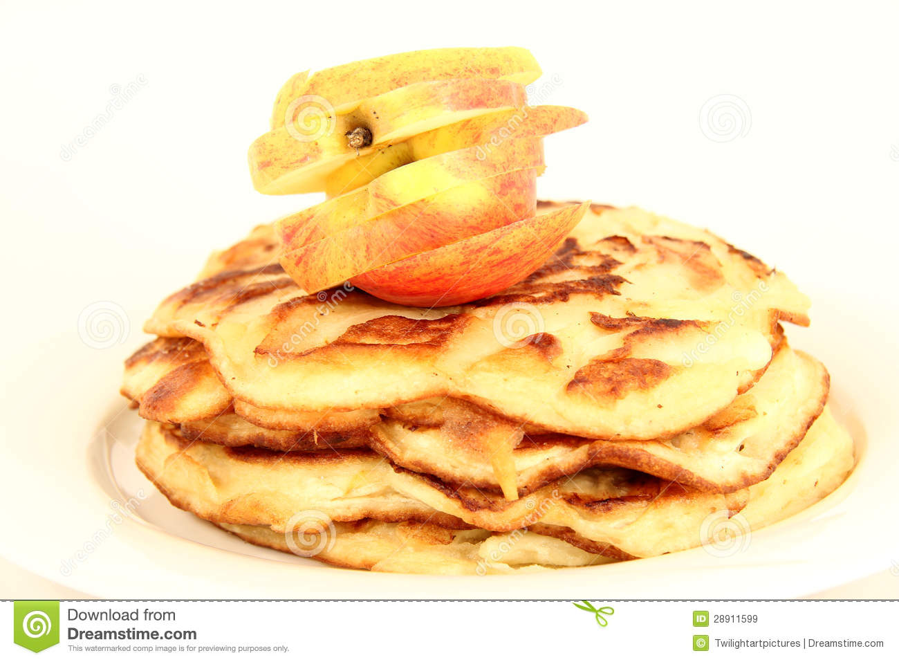 Apple Pancakes Royalty Free Stock Images - Image: 28911599