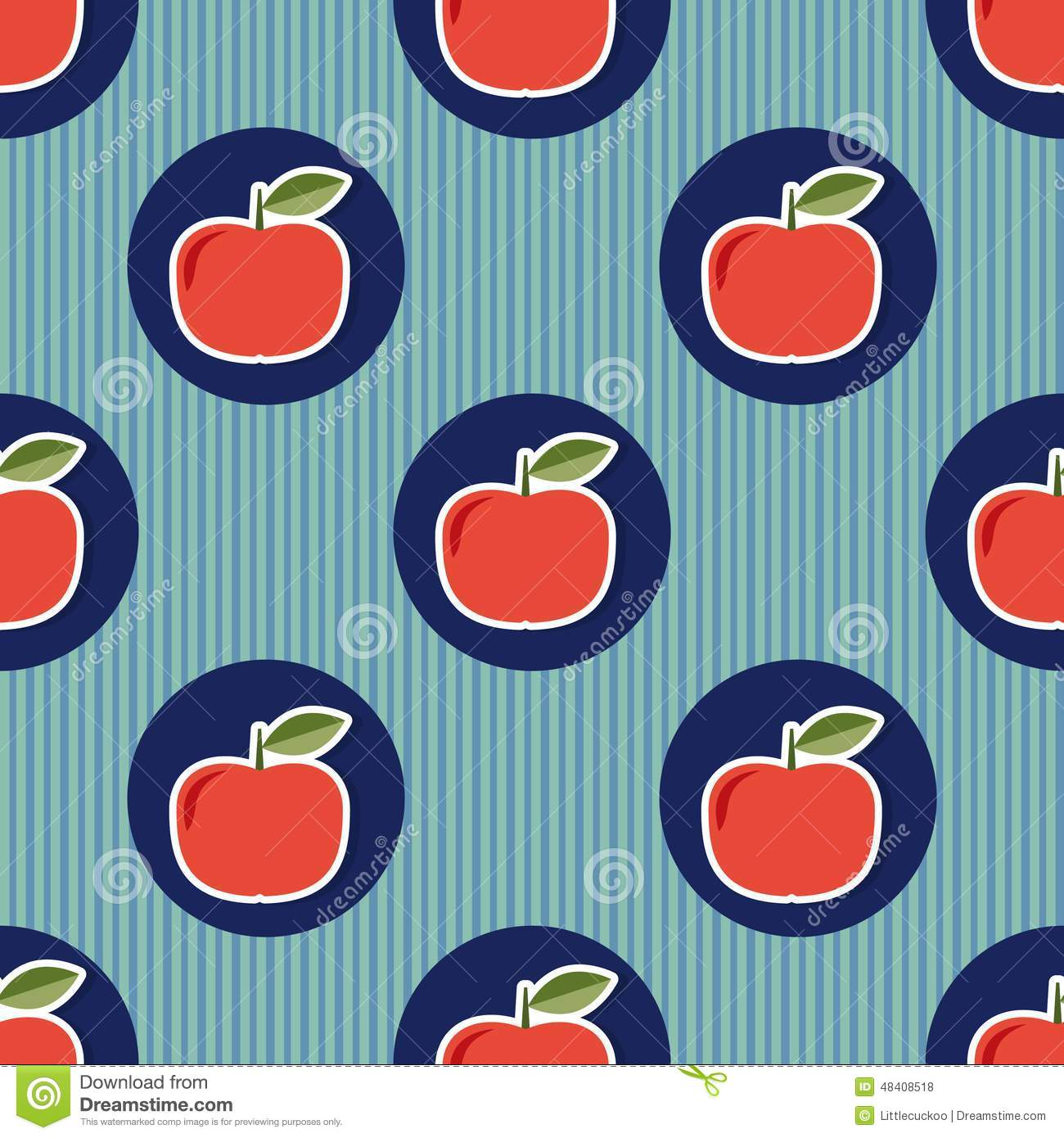 Apple pattern. Seamless texture with ripe red apples