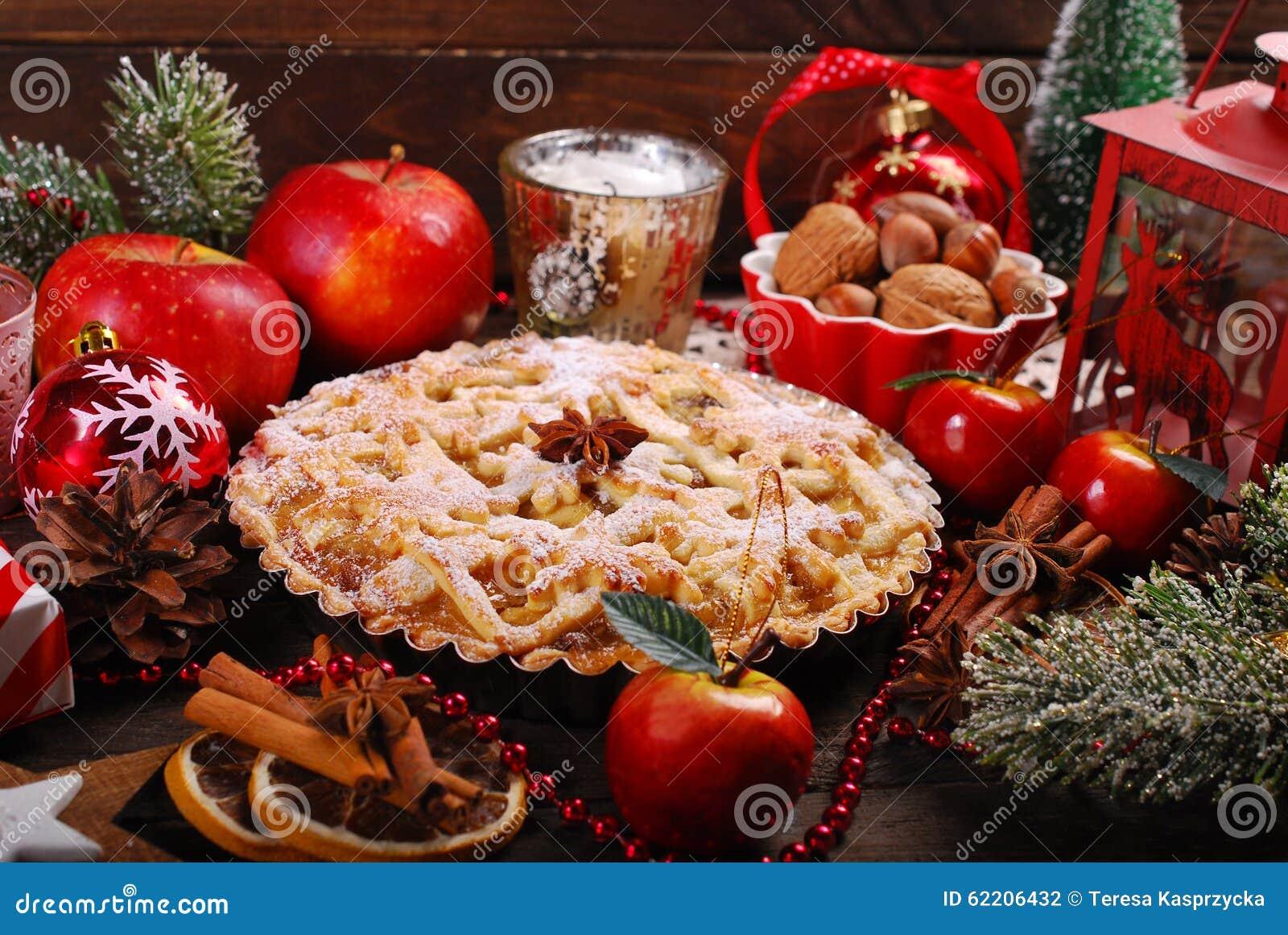 Apple Pie For Christmas Stock Photo Image 62206432