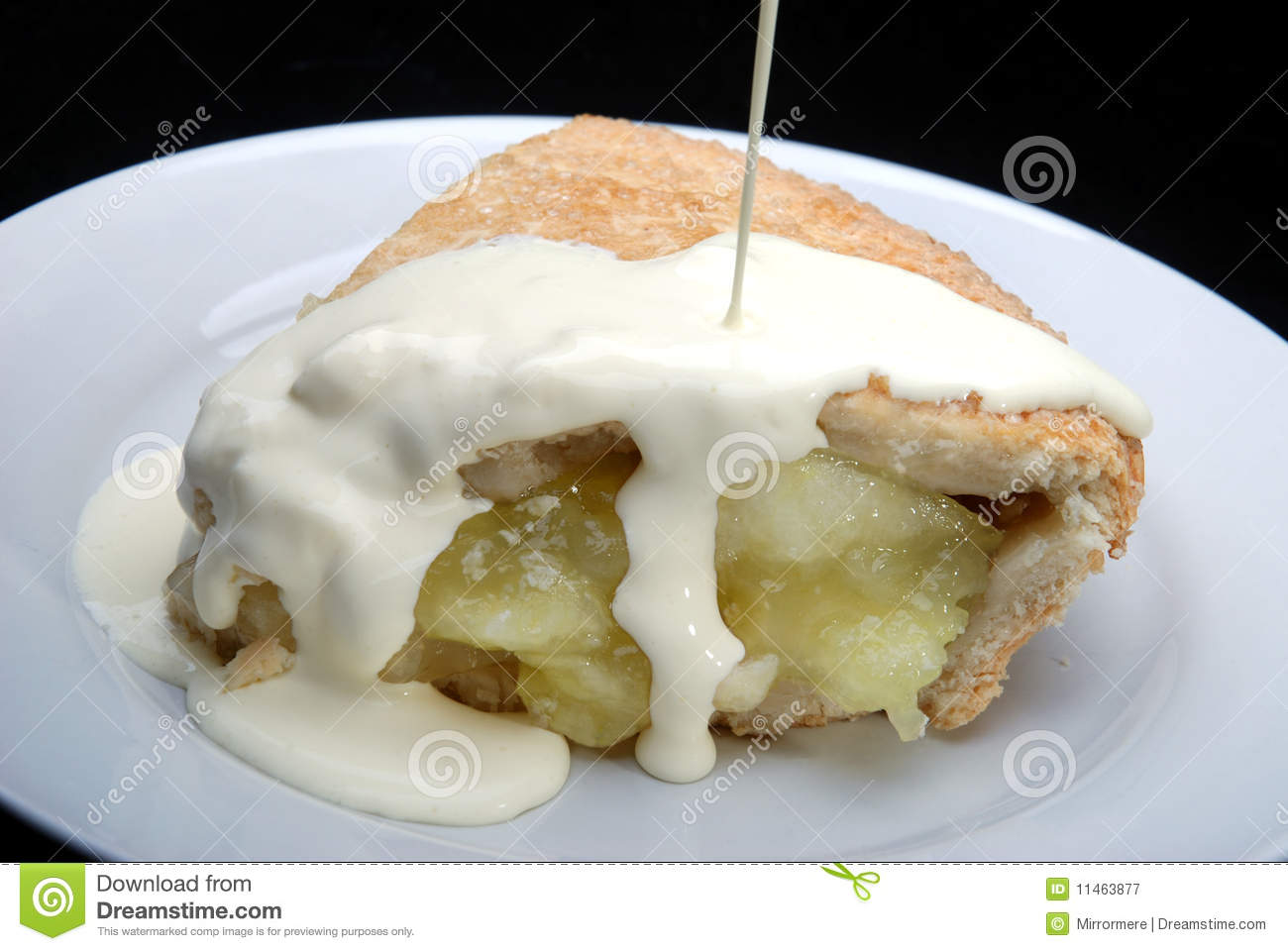 Apple Cup Trophy >> Apple Pie With Cream Royalty Free Stock Photography - Image: 11463877