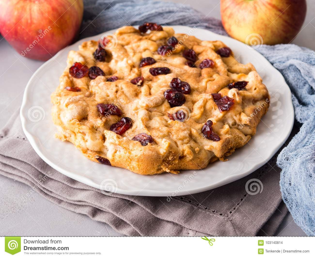 Apple and Dried Cranberry Pie photo