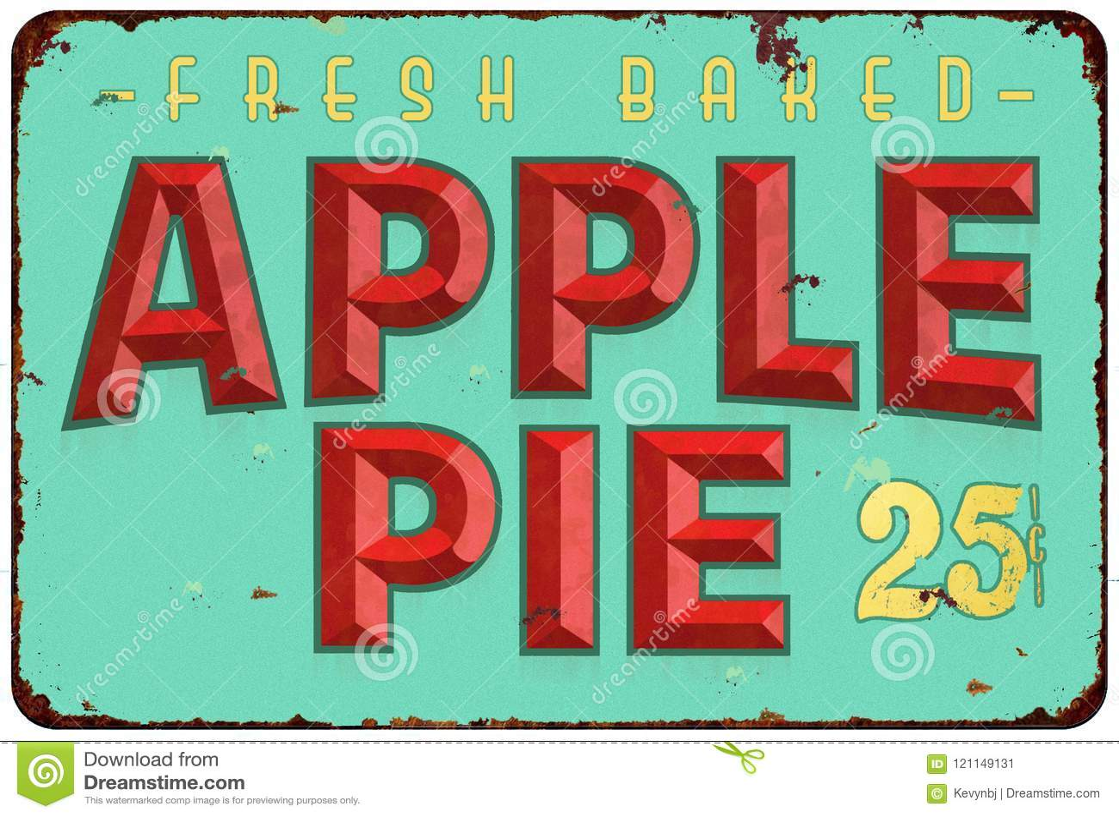 Apple Pie Tin Sign