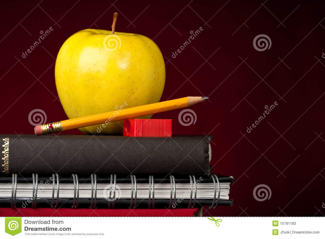 Apple and School Supplies
