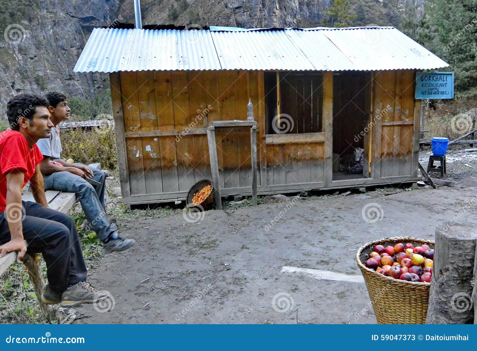 Apple sellers in Nepal