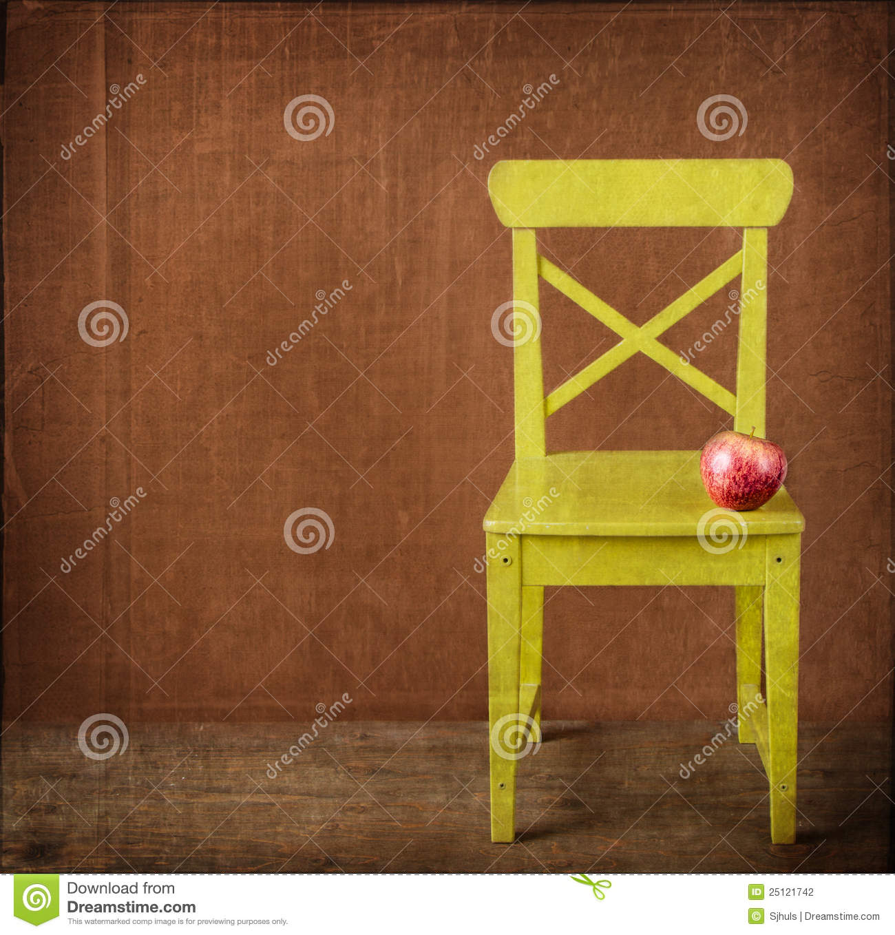 Green Wooden Chair