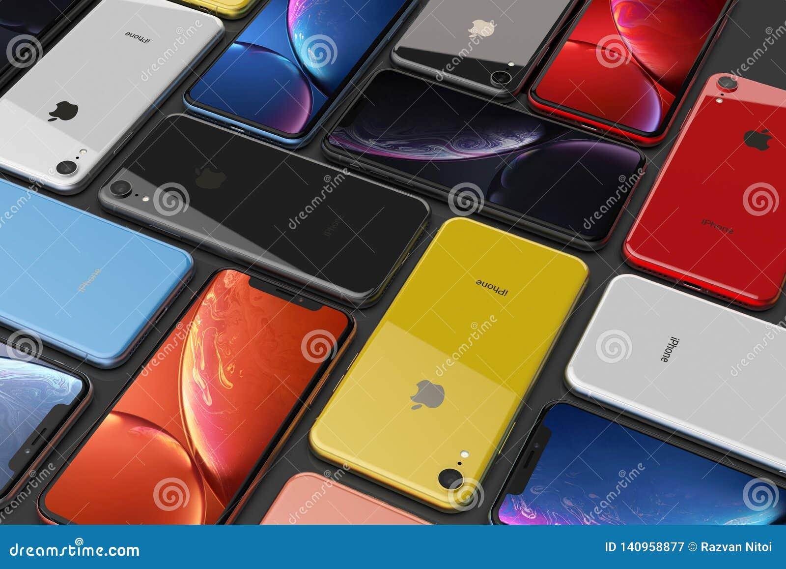 Apple Iphone Xr All Colours Mosaic Arrangement Original Wallpaper Editorial Photography Illustration Of Flash Digital 140958877