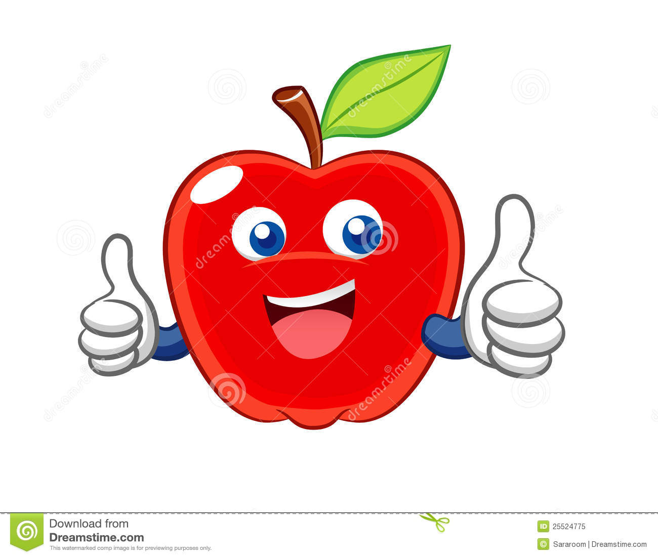 free smiling apple clipart - photo #19
