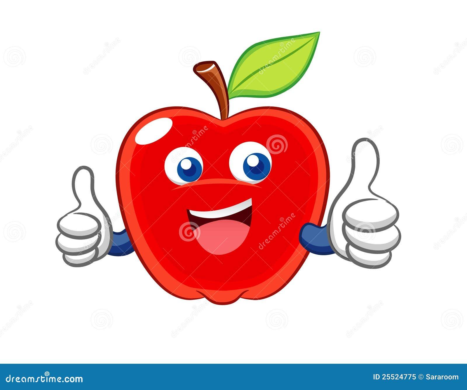Apple Smile Cartoon Stock Vector Illustration Of Cartoon 25524775