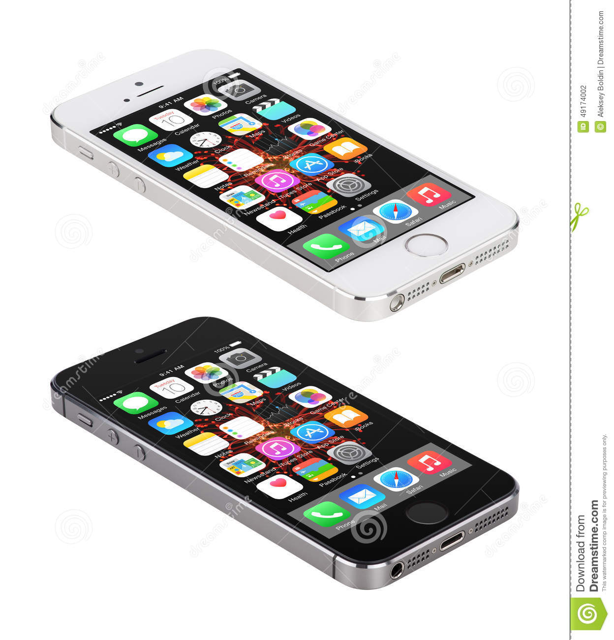 iphone 5s space gray apple space gray and silver iphone 5s displaying ios 8 14869