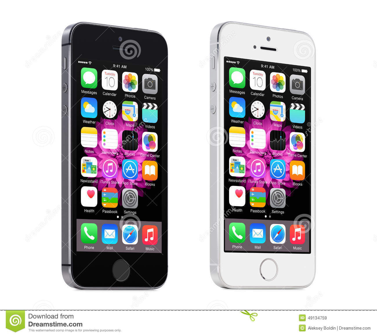 iphone 5s silver apple space gray and silver iphone 5s displaying ios 8 11247