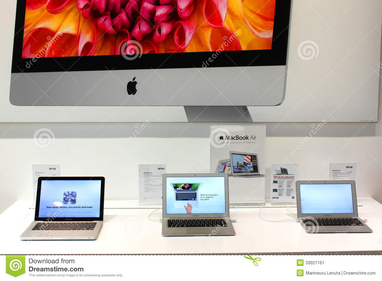The MacBook Air is a line of Macintosh subnotebook computers developed and manufactured by Apple Inc. It consists of a full-size keyboard, a machined aluminum case, and a thin light structure. The Air is available with a screen size of (measured diagonally) inch ( cm), with different specifications produced by Apple.