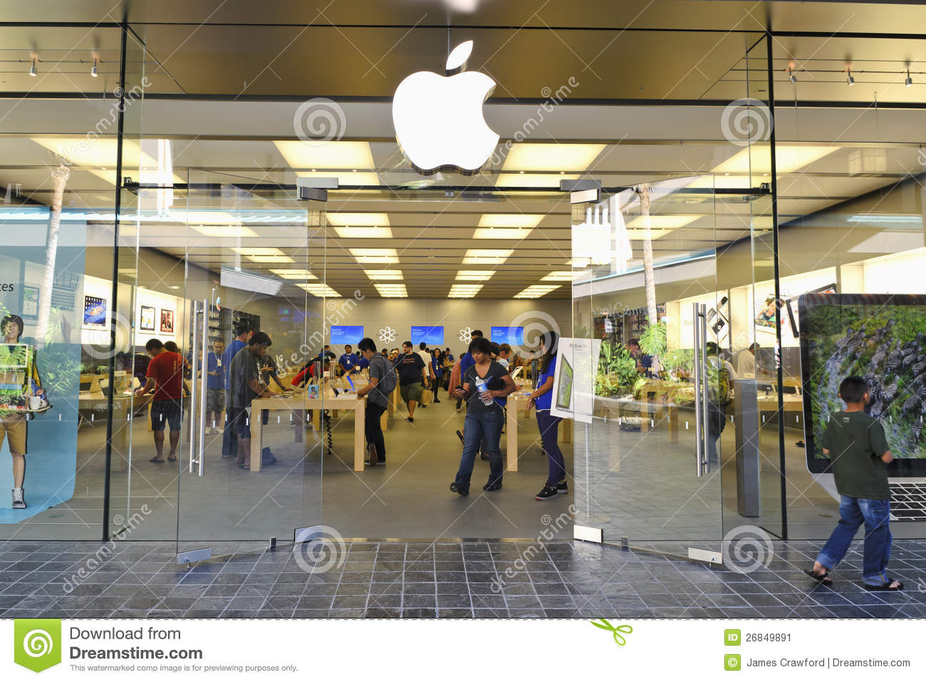Mall Entrance Doors : Apple store entrance editorial photo image of