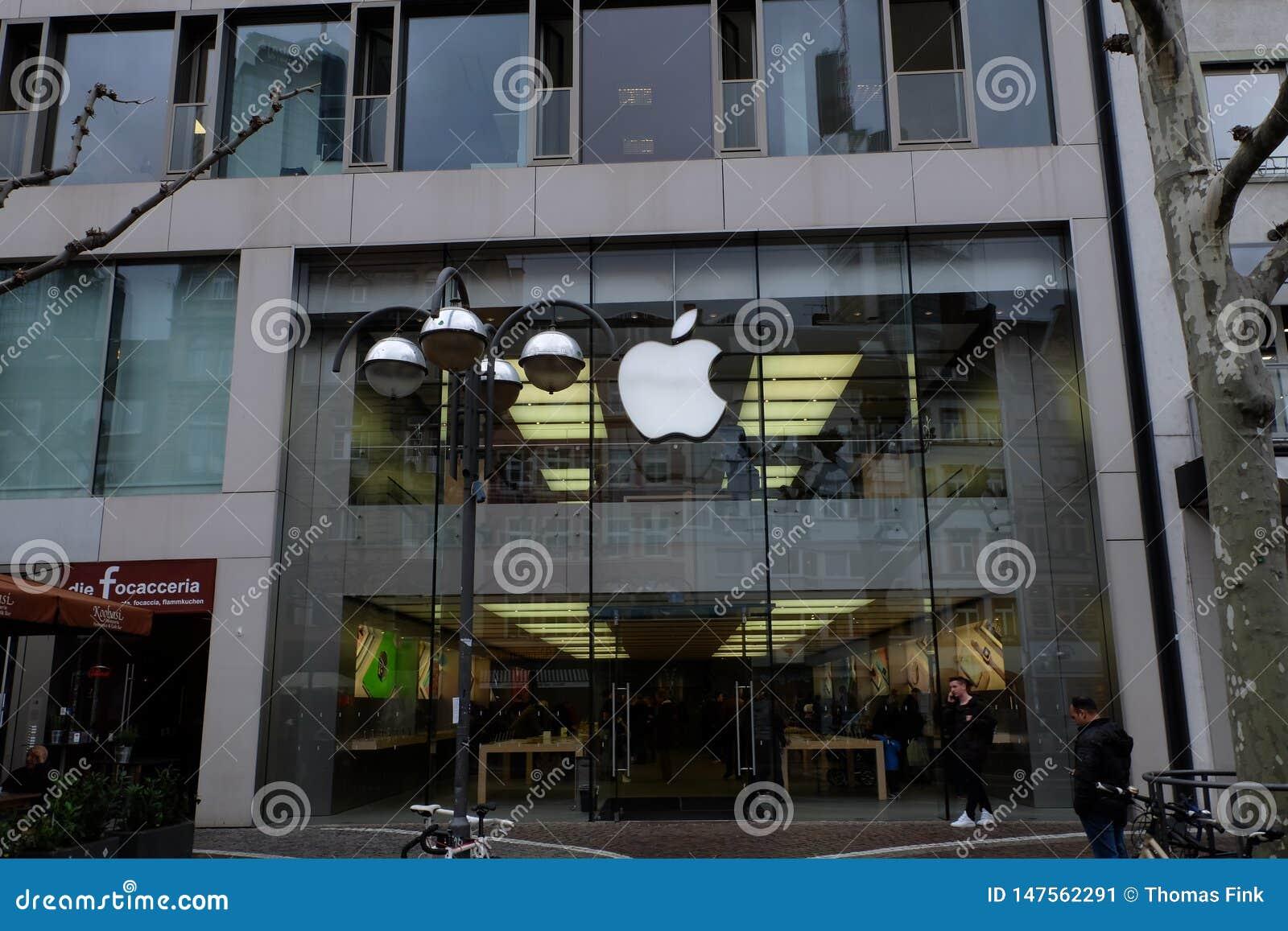 Apple Store Front View in Frankfurt