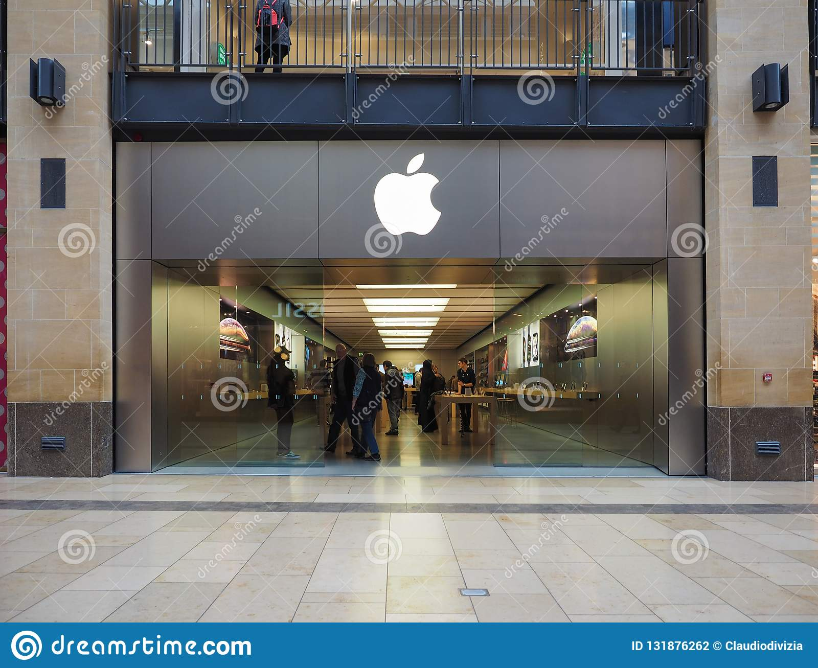 Apple Store At Grand Arcade Shopping Centre In Cambridge Editorial