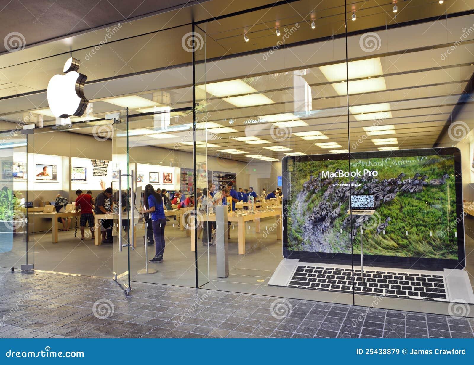 Apple store, Honolulu editorial stock image. Image of macintosh ...