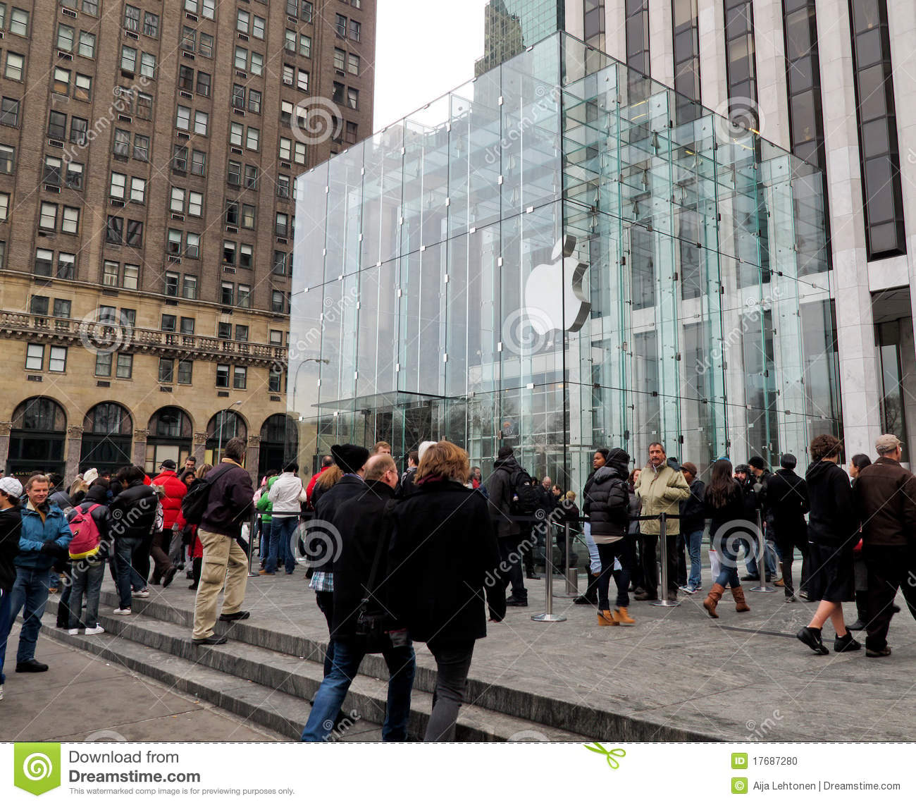Apple store a new york city immagine editoriale immagine for Store fenetre new york