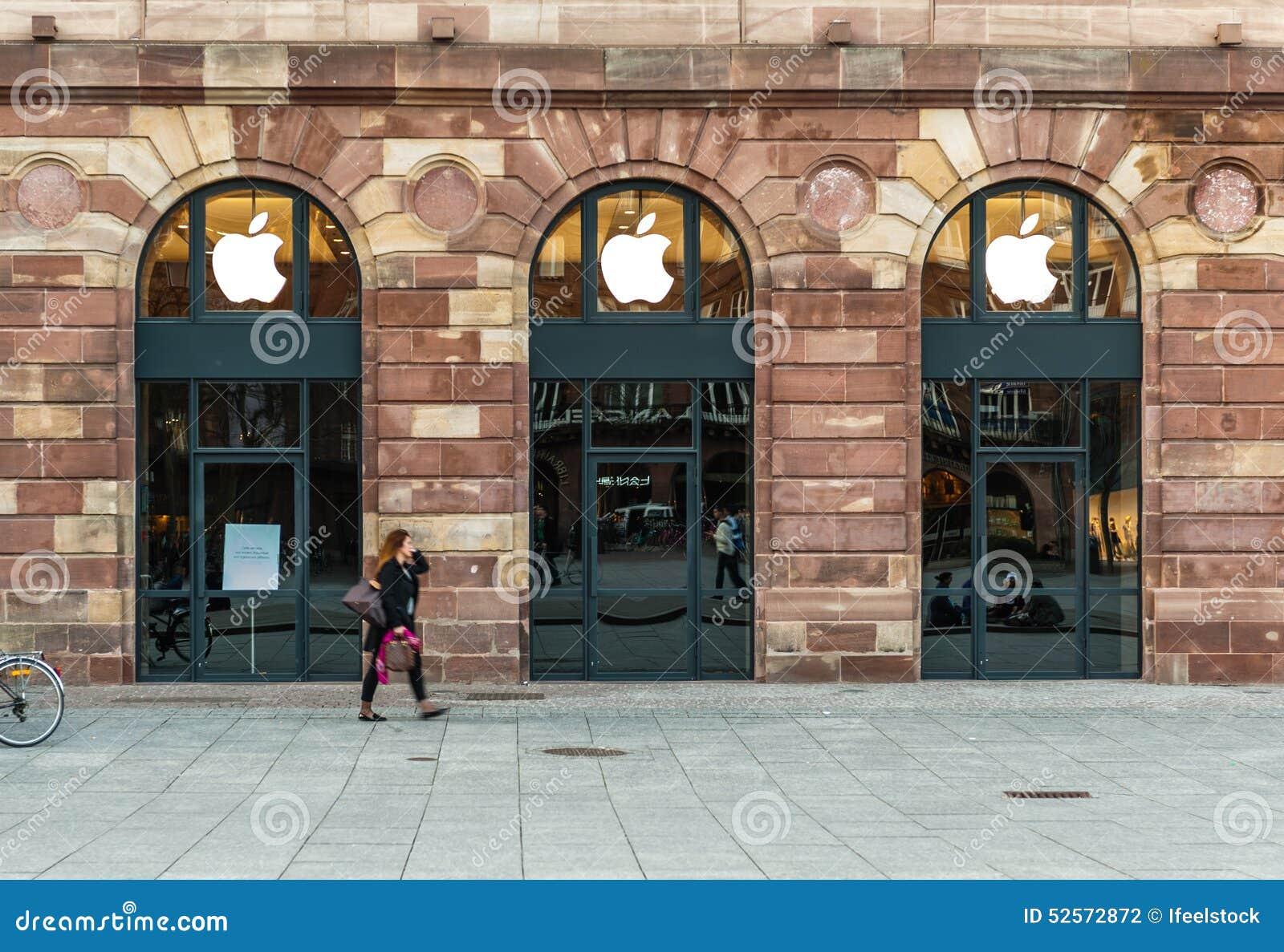 Apple Store som får klar för Apple klockalansering