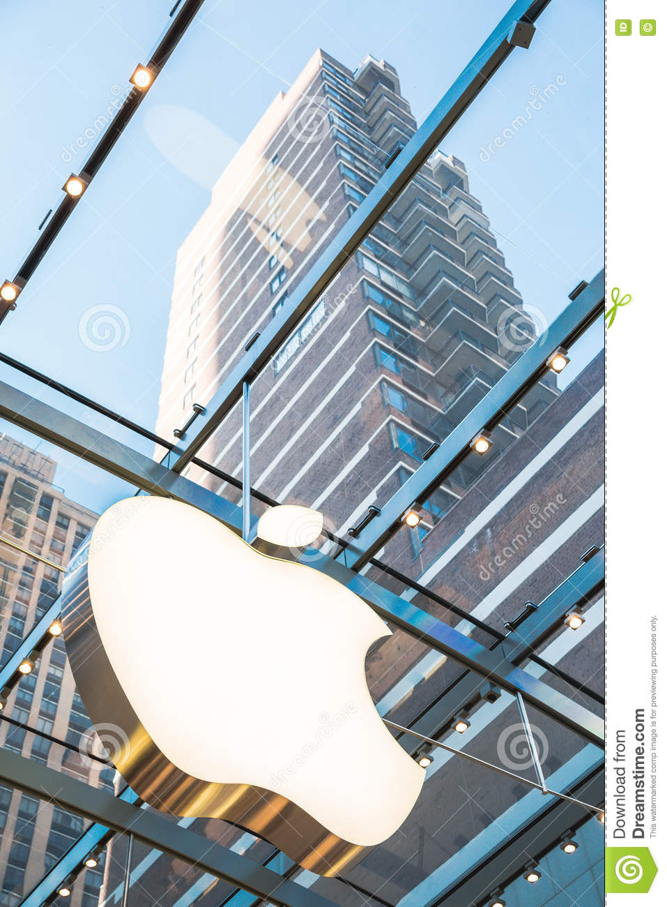 Apple store symbol with skyscraper background editorial photo apple store symbol with skyscraper background buycottarizona Images