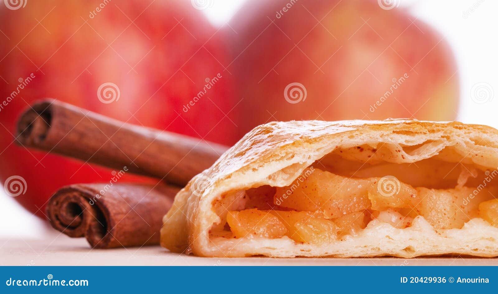 Apple Strudel And Cinnamon Royalty Free Stock Image ...