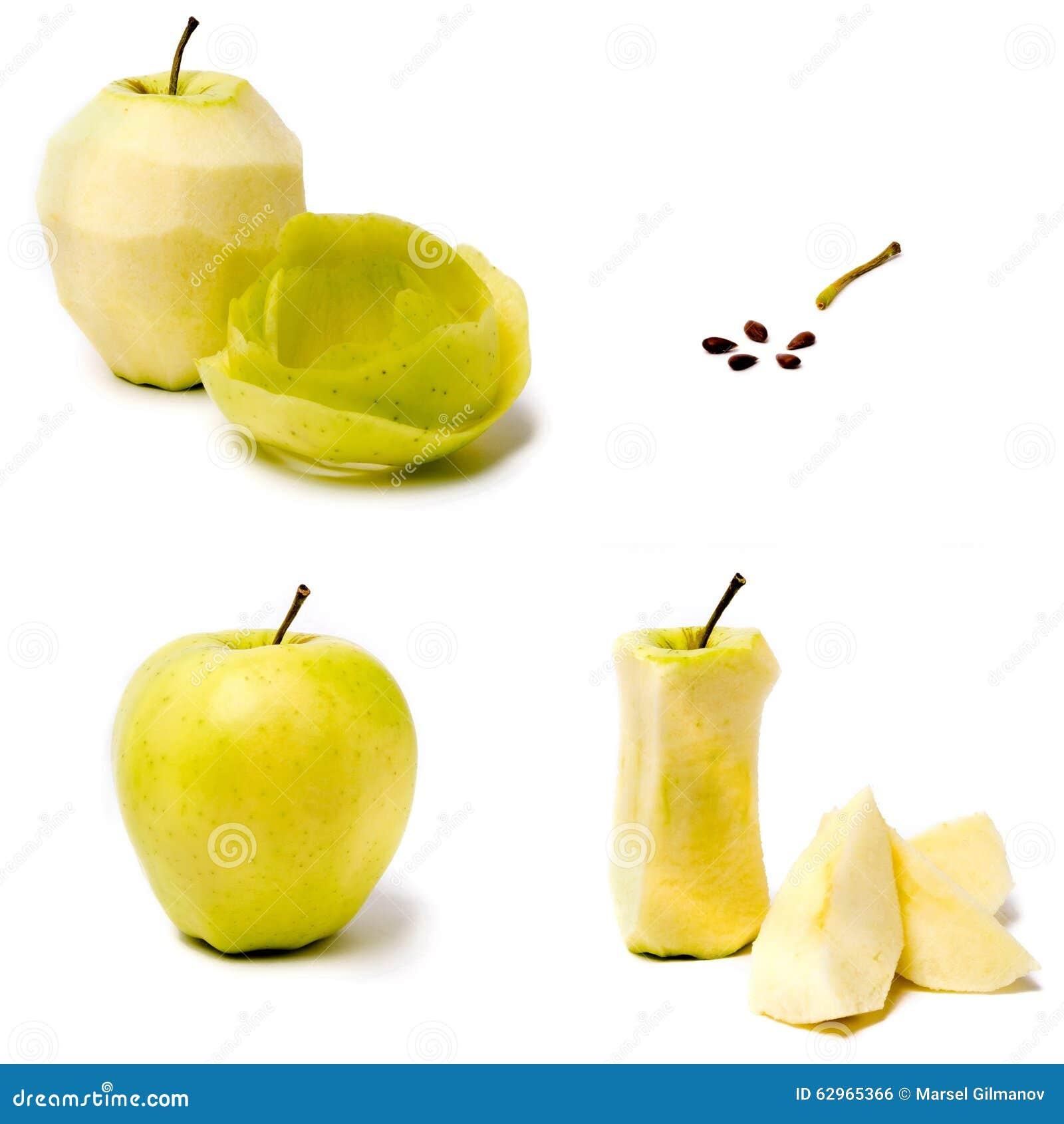 Apple sur un fond blanc
