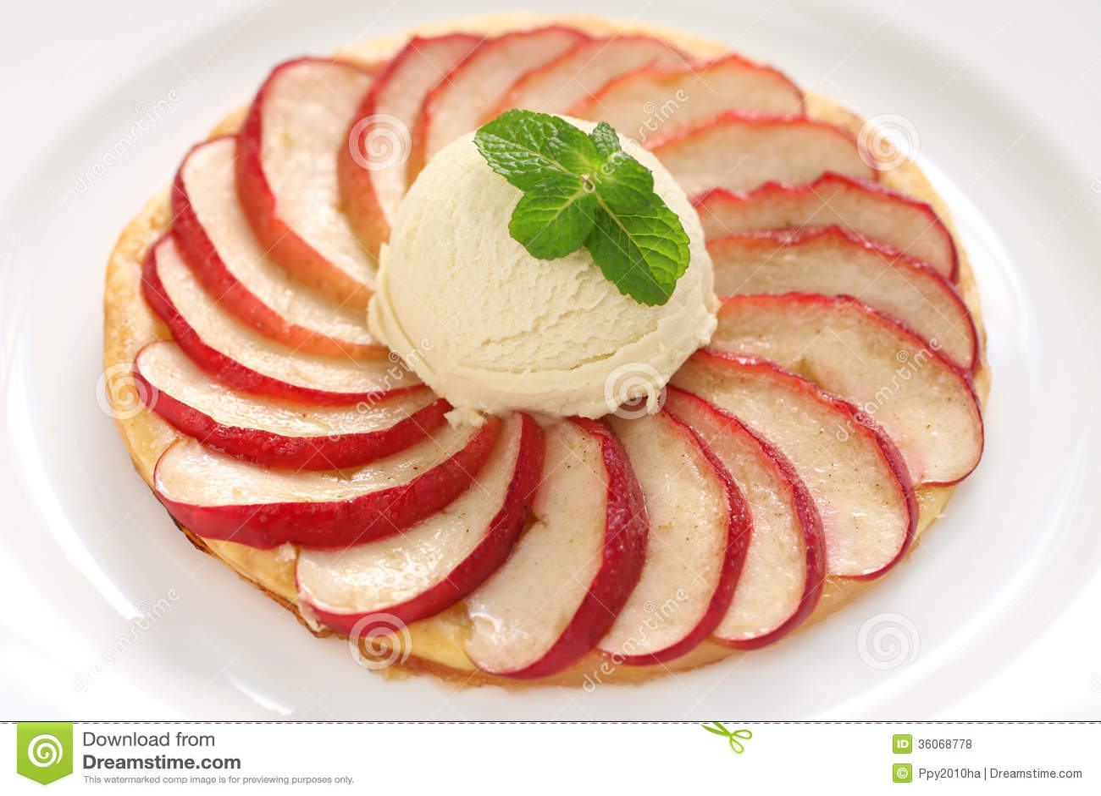 Apple Tart, Flat Apple Pie Royalty Free Stock Photos ...