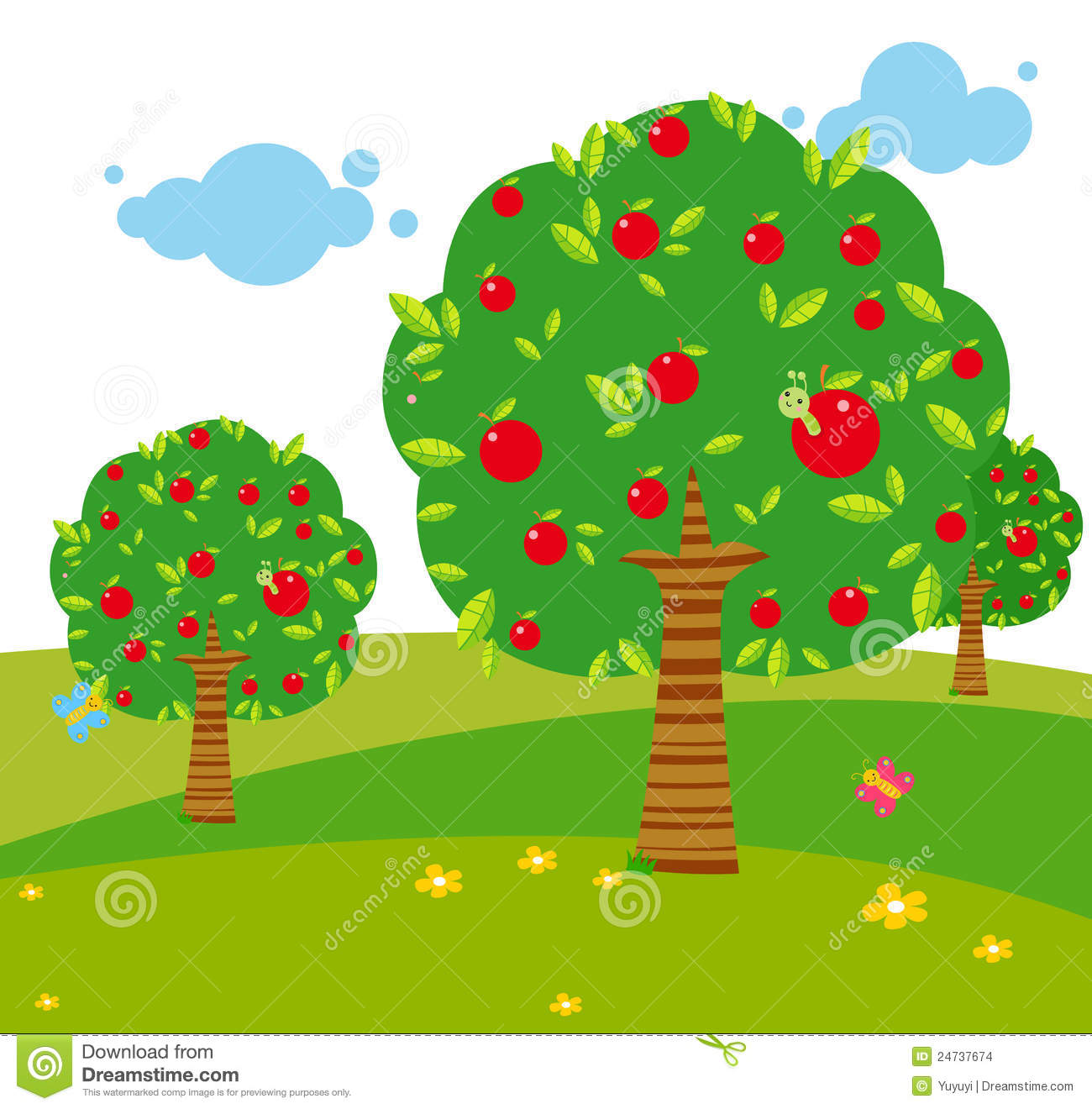 Apple Tree Stock Images - Image: 24737674