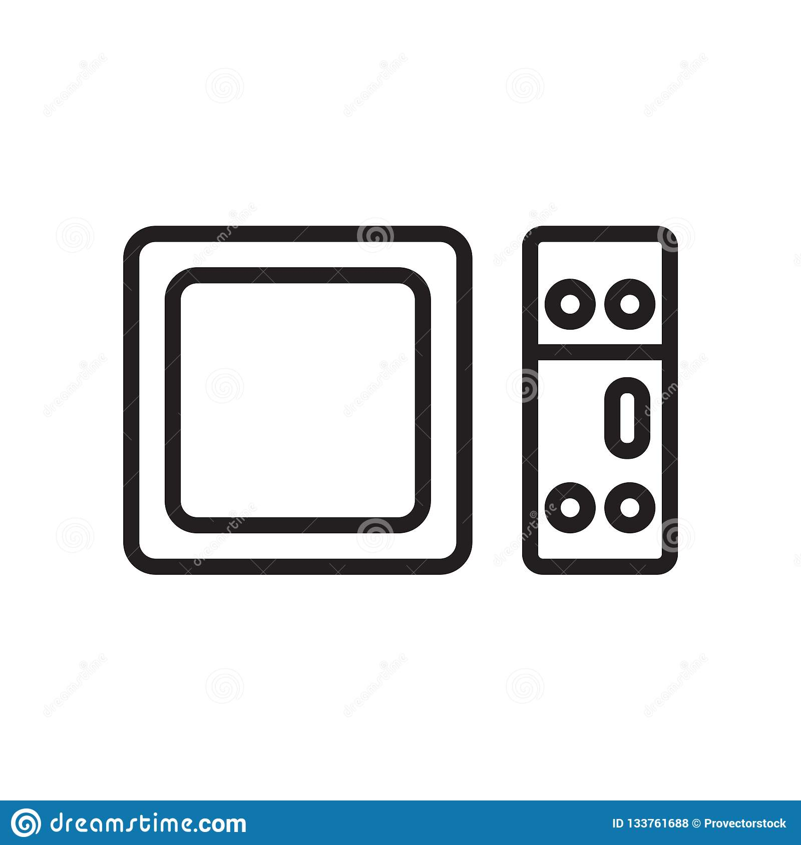Apple tv icon vector sign and symbol isolated on white background, Apple tv logo concept