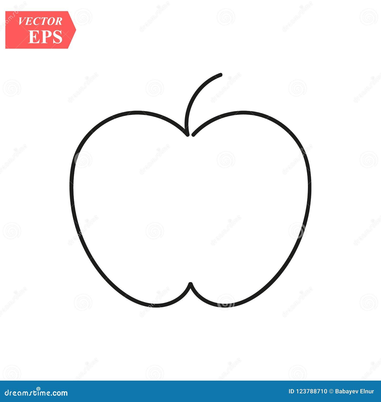 Apple - um a lápis desenho Linha contínua fruto Ilustração minimalista desenhado à mão, vetor