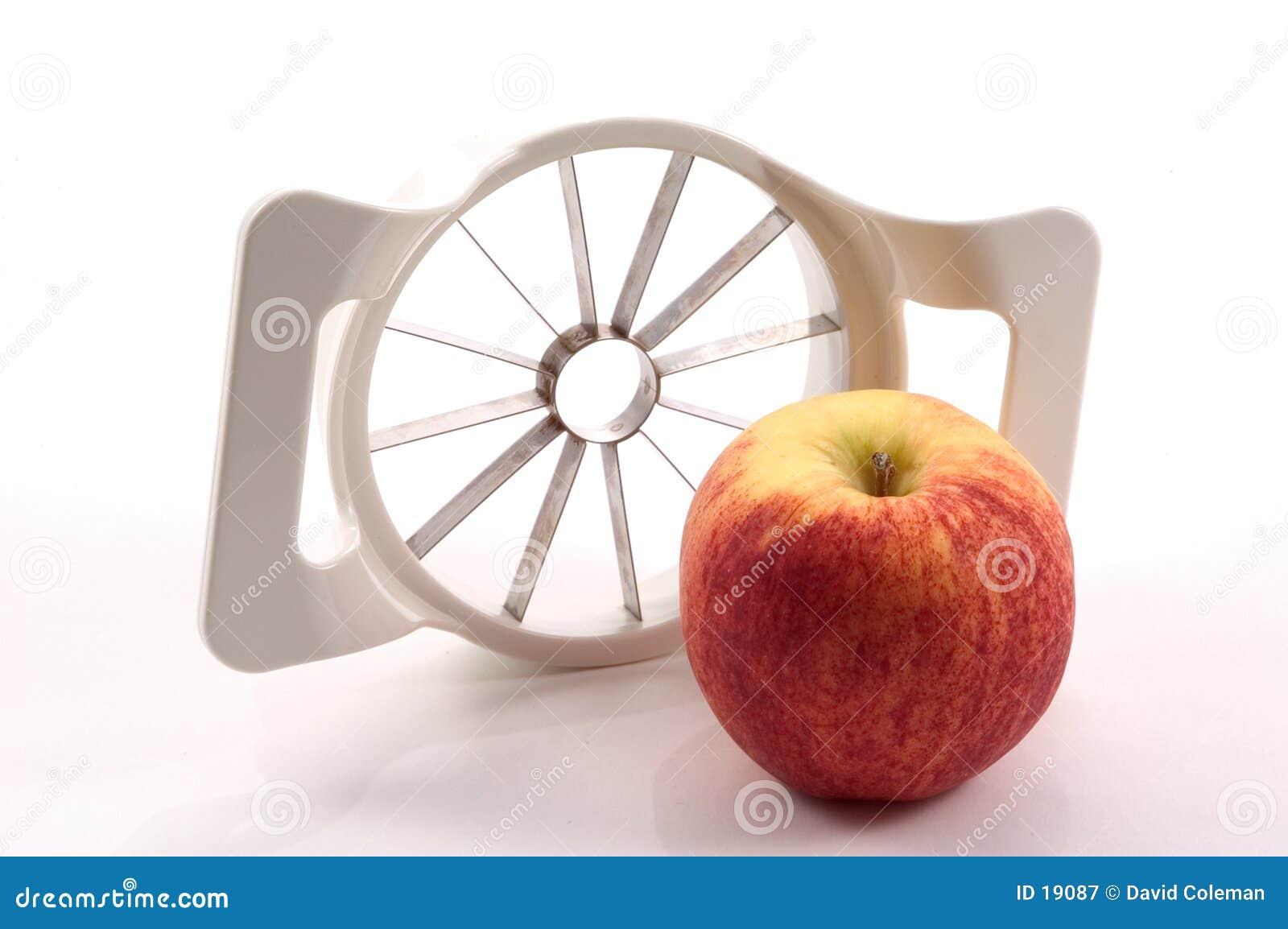 Apple und Apple-Schneidmaschine