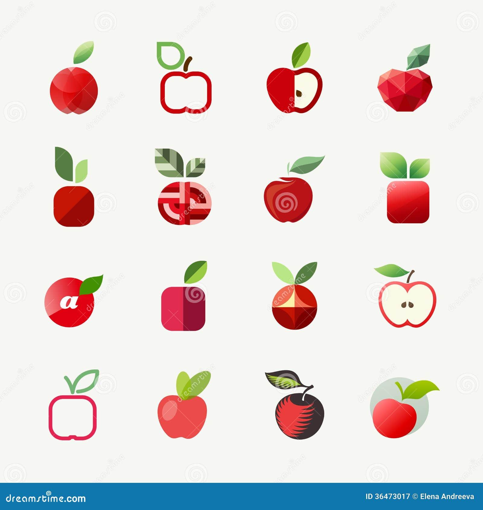 Apple  Vector Logo Templates Set  Elements For Design