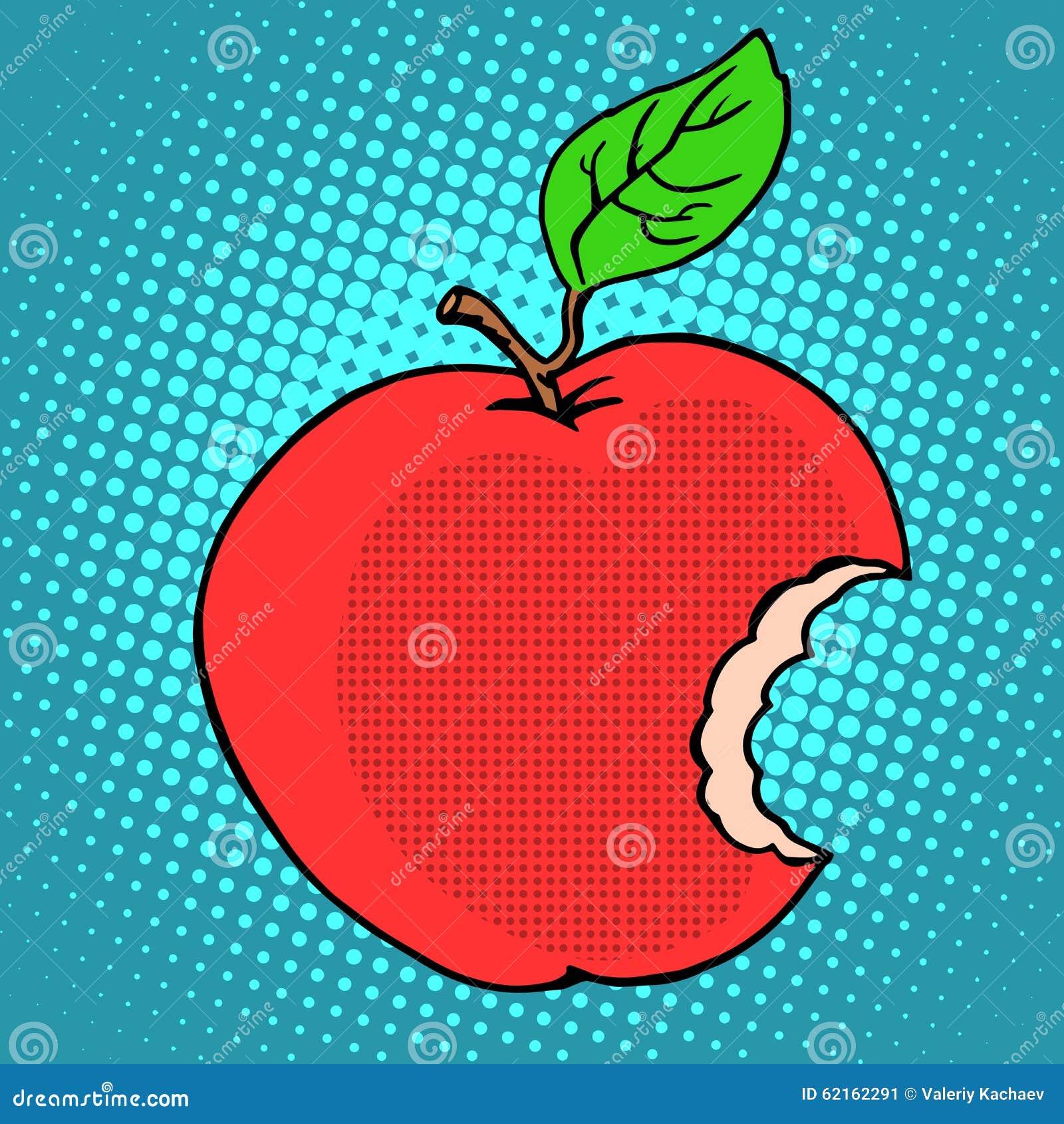Apple vermelho mordido