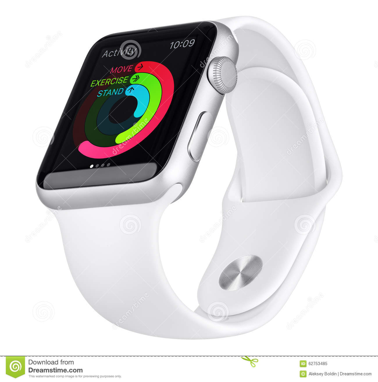newest collection 6b97f 86f60 Apple Watch Sport 42mm Silver Aluminum Case With White Band ...